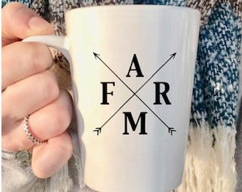 Farm mug, Farmhouse mug, Country mug, Farmers Market mug, Country living, rustic mug, mommy mug, cozy mug, country style mug