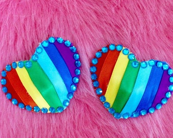 LGBTQ: Rainbow Nipple Pasties