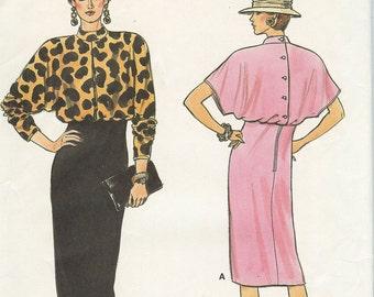 Vouge 9408 Misses Dress New Uncut Size 12-16