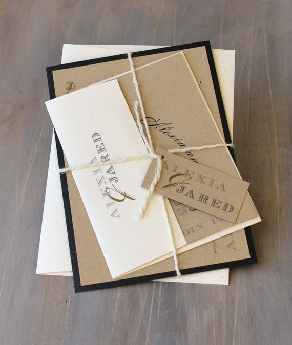 Rustic Wedding Invitation Fonts: Rustic Wedding Invitation Modern Wedding Invitations Rustic