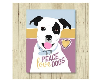 Peace, Love Magnet, Dog Magnet, Dog Fridge Magnet, Dog Lover Gift, Tie, Cute Magnet, Pet Lover Gift, Thank You Gift, Dog Lovers