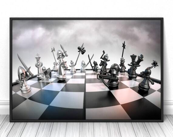 Schach Kunst Wohnzimmer Raum Wand Dekor Moderne Plakat Büro
