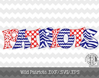 Wild Patriots Files INSTANT DOWNLOAD in dxf/svg/eps for use with programs such as Silhouette Studio and Cricut Design Space