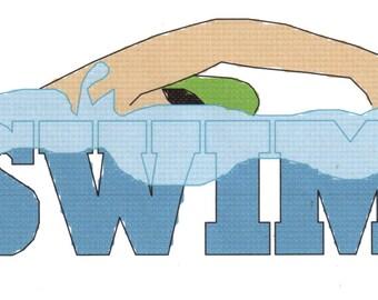 Swimming  counted Cross Stitch Pattern Swim