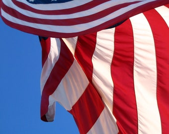 Partial American Flag Blowing in the Breeze