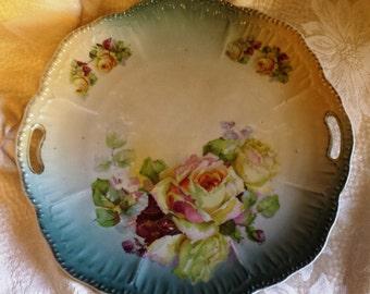 Beautiful Schumann Bavaria plate with handles