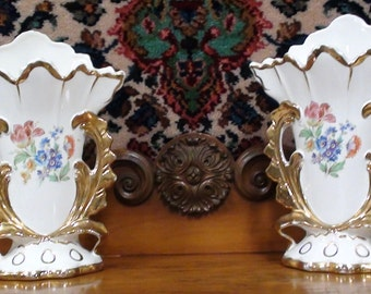 Royal China Warranted 22k Gold Vases Excellent Condition  Sorry no free shipping on this item
