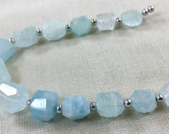 1 Strand Aquamarine Beaded Necklace @504
