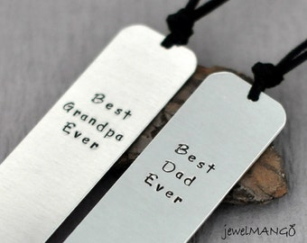 Bookmark for DAD, Hand Stamped Personalized bookmark, Personalized bookmark custom bookmark, gift for mom dad