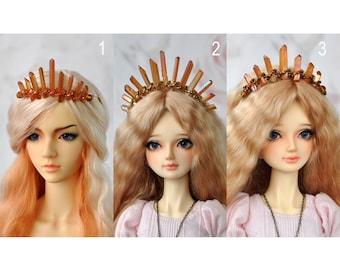 Quartz Crystal Crown bjd - tiara - diadem- Flame Collection - MSD - SD - 70+