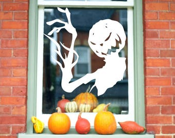 Jack Skellington, Pumpkin King Window Decal - Nightmare Before Christmas Window Decal, Halloween Decoration. Disney window Decal