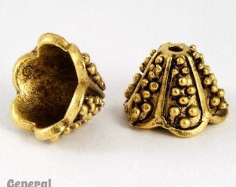 15mm Antique Gold Granulated Lampshade Cone  #COA029