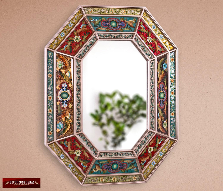 Espejo decorativo Octogonal Legado Colonial