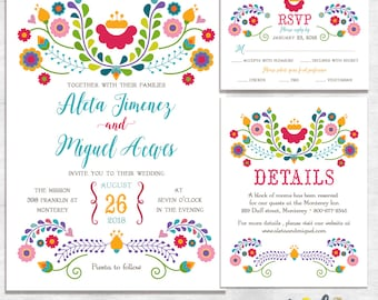 Mexican wedding invitations Fiesta Wedding Invites