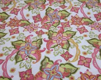 Bohemian Festival White Fabric Fat Quarter