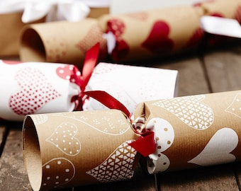 Christmas crackers etsy recycled heart christmas crackers solutioingenieria Image collections