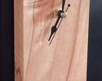 Rectangle wooden wall clock