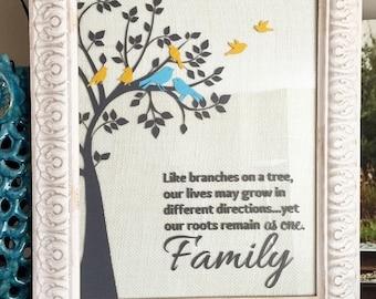 SVG family tree birds, SVG tree, bird family, Cricut tree with birds, Like branches on a tree, SVG family roots / tree digital file / eps