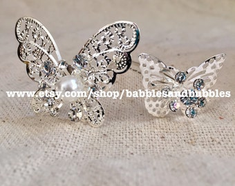 BOHO Vintage-Style Silver Butterfly Bobby Pins - Fast Shipping