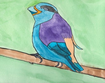 Pleasant Blue Bird