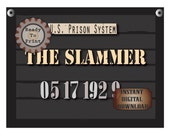 The Slammer Police Line Up Sign Printable 1920s Mug Shot 2 Photo Booth Props Prohibition Speakeasy Roaring 20s Gatsby Era Capone Arrest Date