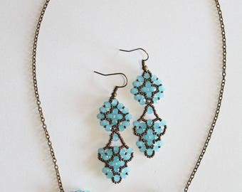 Finery Guenièvre bronze and turquoise blue