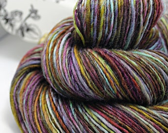 RESERVED for Rose Petal Collections Handspun Yarn Gently Thick and Thin Single DK Fine English Shetland 'Lydia'