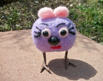 Felted Figure, Oddball Doll, Handmade Creature, Adopt Me, FeltWthAHeart