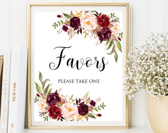 Wedding Favors, Favors Wedding Sign, Wedding Favors Sign, Favors Please Take One Sign, Printable Favors Sign, Printable Wedding Favors Sign
