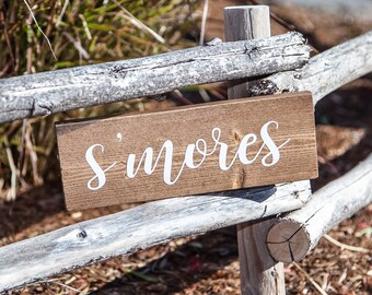 Smores sign wood sign - Summer sign - Dessert Table sign - Smores party sign