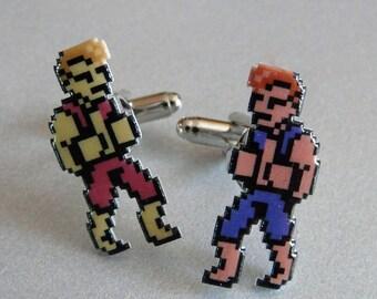 sibling rivalry - double dragon cufflinks