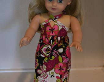 1960s or 1970s style dress and headband for you 18 inch doll such as Julie Albright.