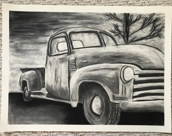 Old Pickup Truck Drawing