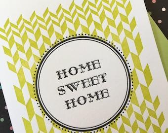 Home Sweet Home Letterpress Card