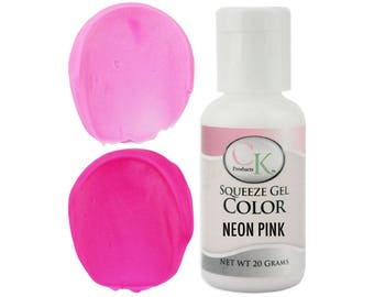 Neon Pink CK Gel Paste Food Coloring - high quality food coloring for icing, frosting, cookie dough and more