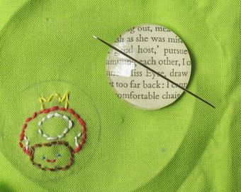 Magnetic Needle Minder Keeper - Sewist Sewing Bookworm Gift Jane Austen Eyre Glass Magnet - Sherlock Holmes Anne Green Bronte Craft Supplies
