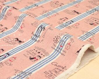 Japanese Fabric Kokka Shiba Inu - pink, blue - fat quarter
