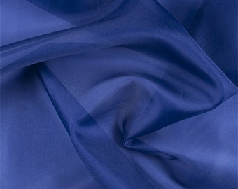 Blue Silk Organza, Fabric By The Yard