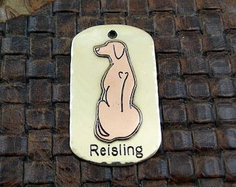 Custom Dog ID Tag-Rhodesian Ridgeback- Dog Collar ID Tag-Pet ID Tag-Handmade Metal Dog Tag