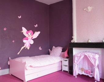 Flying fairy color sticker (2562f)(fe,fee,keijukainen,fata,älva,фея)