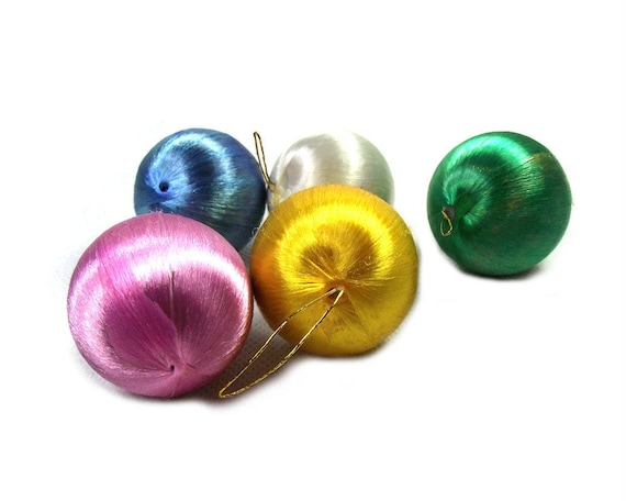 Vintage Silk Christmas Baubles from the Mid Century