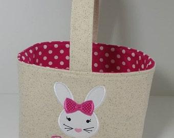 Personalized Easter Basket, Bunny Easter Basket
