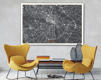 Richmond canvas map Etsy