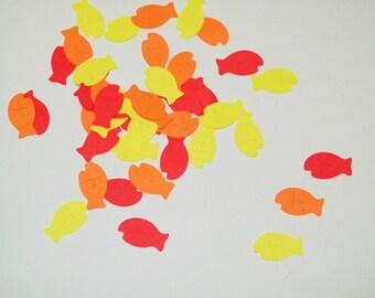 Fish Confetti/ Gold Fish/ Sea/Fishing/ Decoraitng/ Party Supplies/ 100 Pieces