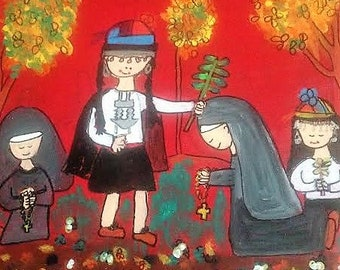 Leave behind. Mapuche women in communion with nuns