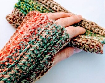 READY TO SHIP Fingerless gloves/wrist warmers - adult size