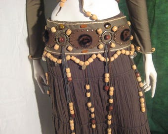 Tribal wood and fur