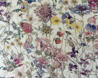 WILD FLOWERS  A 1.00 YARD by Liberty on Tana Lawn cotton     (36 ins x 54 ins)