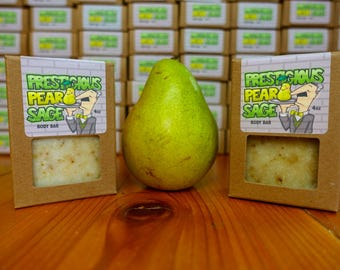 Natural Vegan Soap Prestigious Pear Sage Handmade Pear Scented Body Soap Teen Made in Chicago