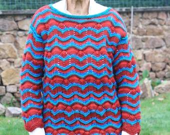 wool hand knit sweater women